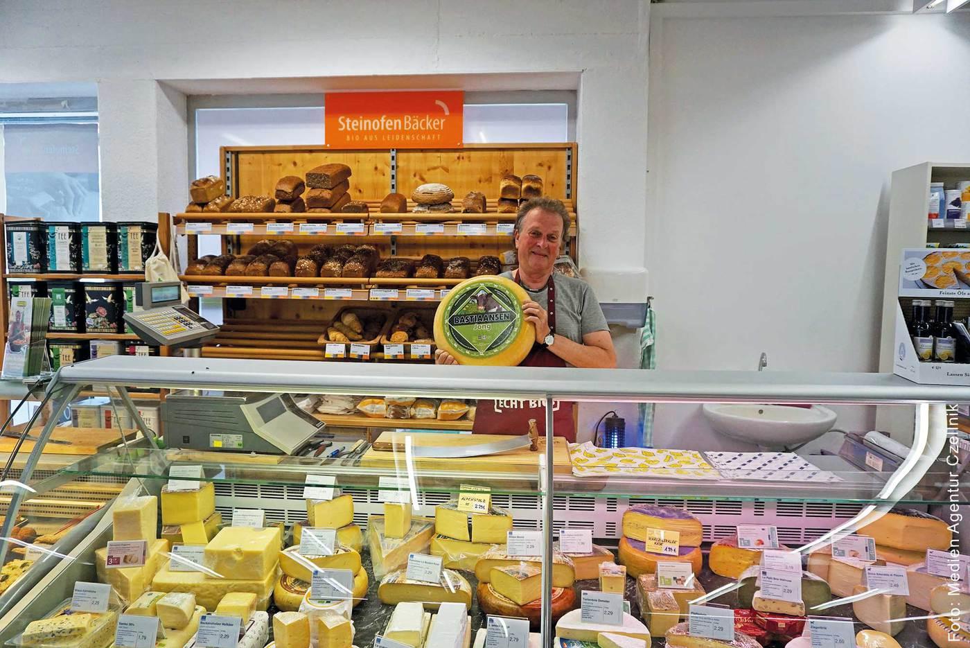 Topi Brot und Käse